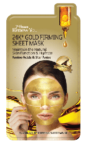7th HEVAEN 24k* GOLD FIRMING SHEET MASK