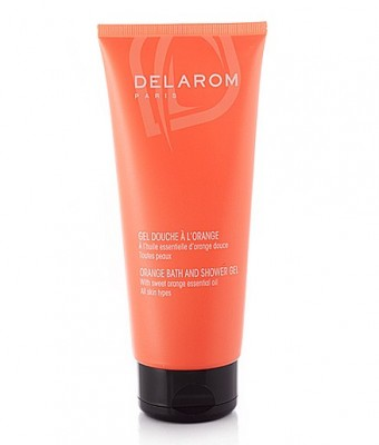 DELAROM ORANGE BATH AND SHOWER GEL 200ML